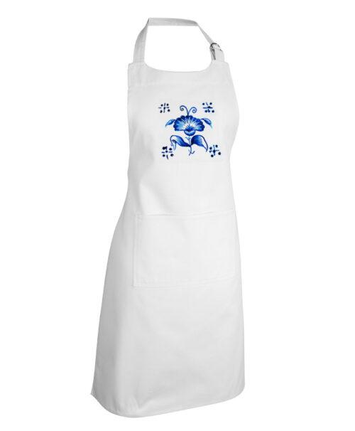 Avental Flor Azul