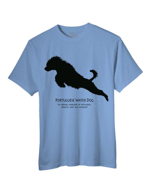 T-shirt Cão de Água Português a Saltar