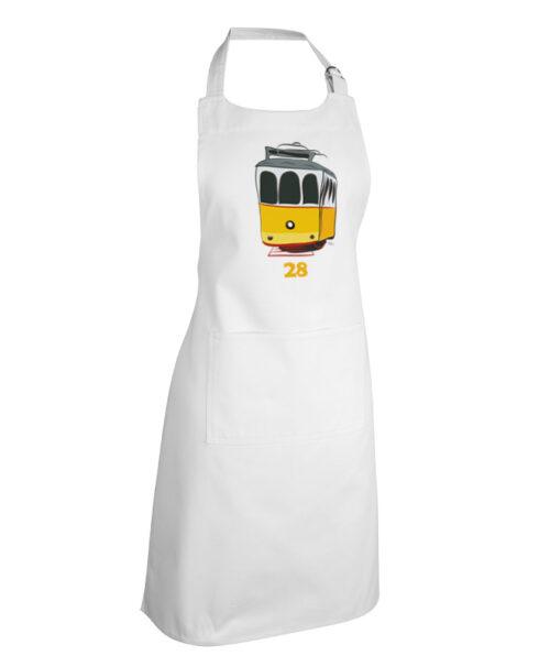 Tram 28 apron white