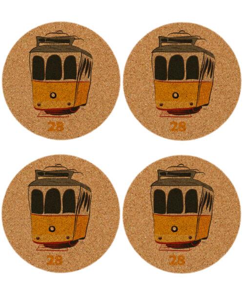 Tram 28 cork coasters