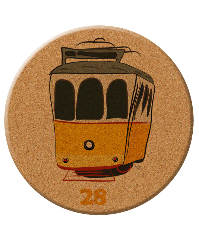 Tram 28 cork Trivet