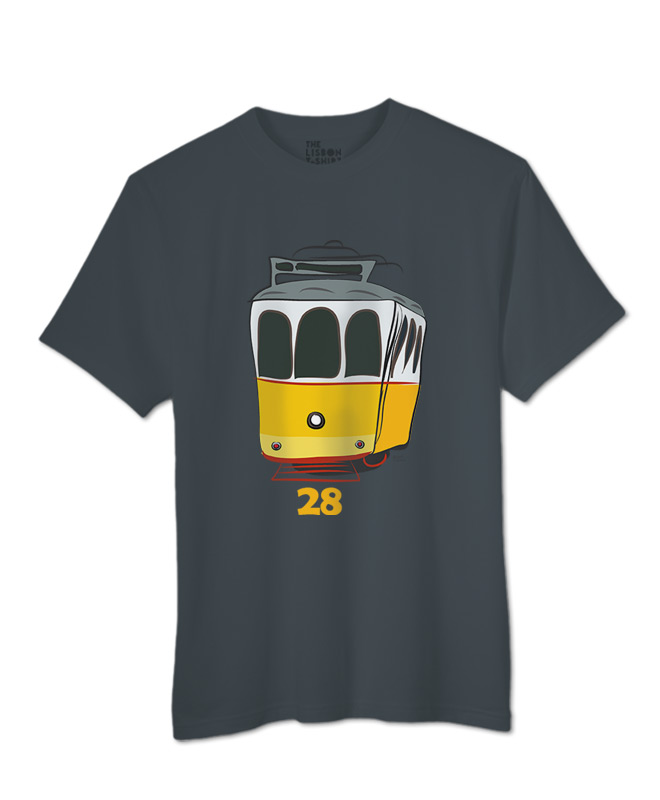 Tram 28 T-shirt dark grey