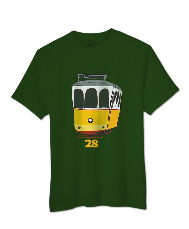 Tram 28 T-shirt botle green