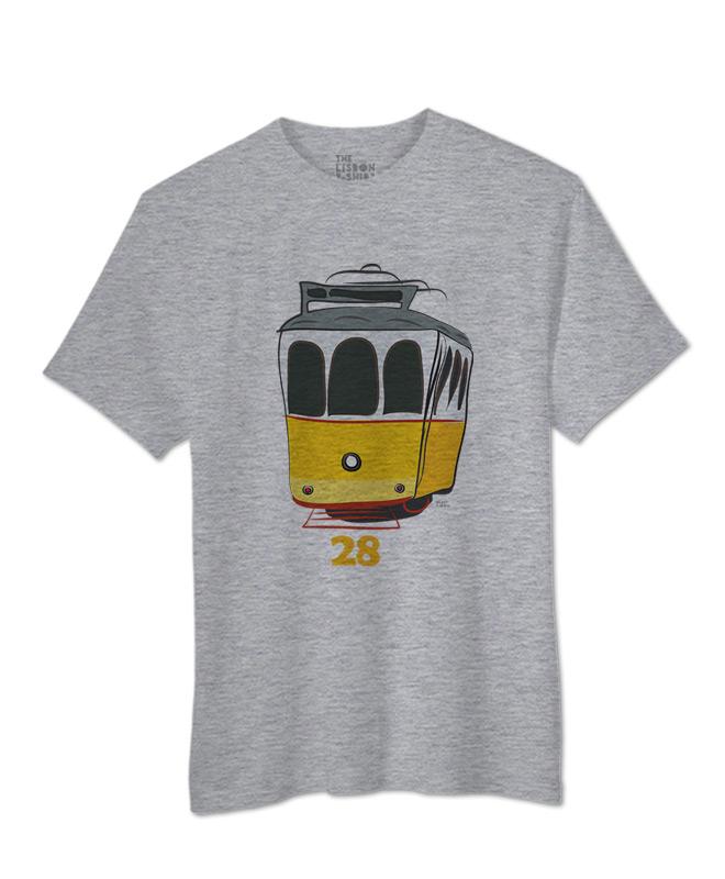 Tram 28 T-shirt heather grey