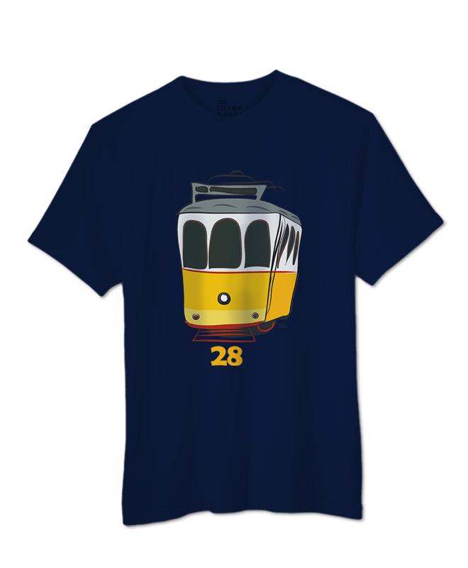 Tram 28 T-shirt Navy blue