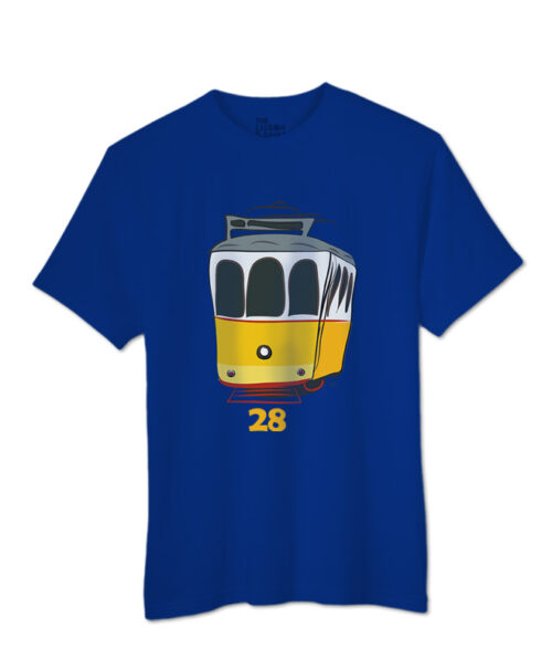 Tram 28 T-shirt royal blue