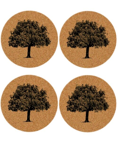 cork oak coasters