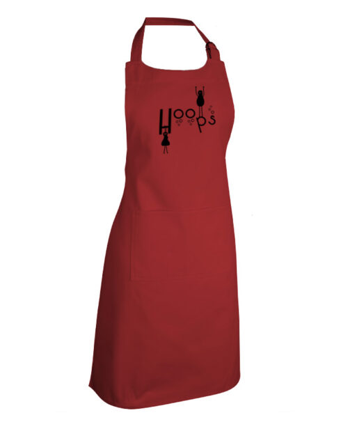 Hoops Bordeaux Apron with black printing creativelisbon