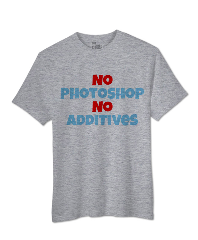 No Photoshop T-shirt