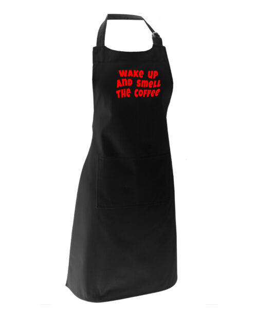 wake up and smell the coffee apron