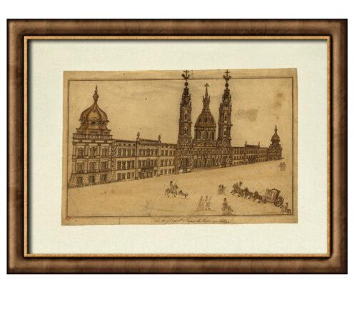 Canvas Mafra Palace framed creativelisbon