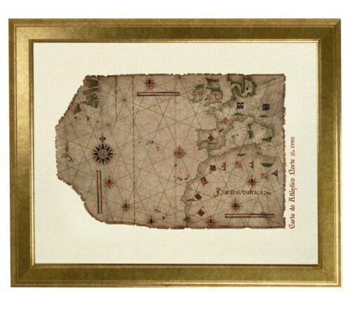 Canvas north atlantic framed creativelisbon