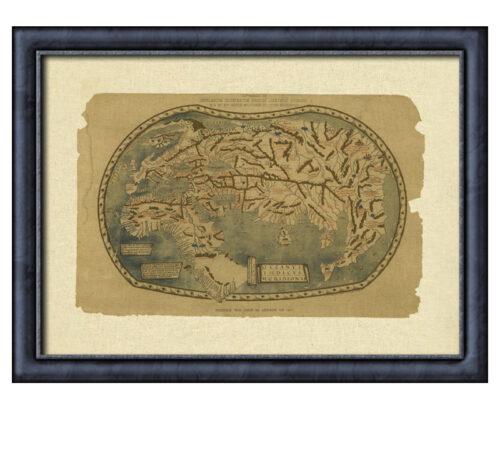 Canvas oceanus indicus framed creativelisbon