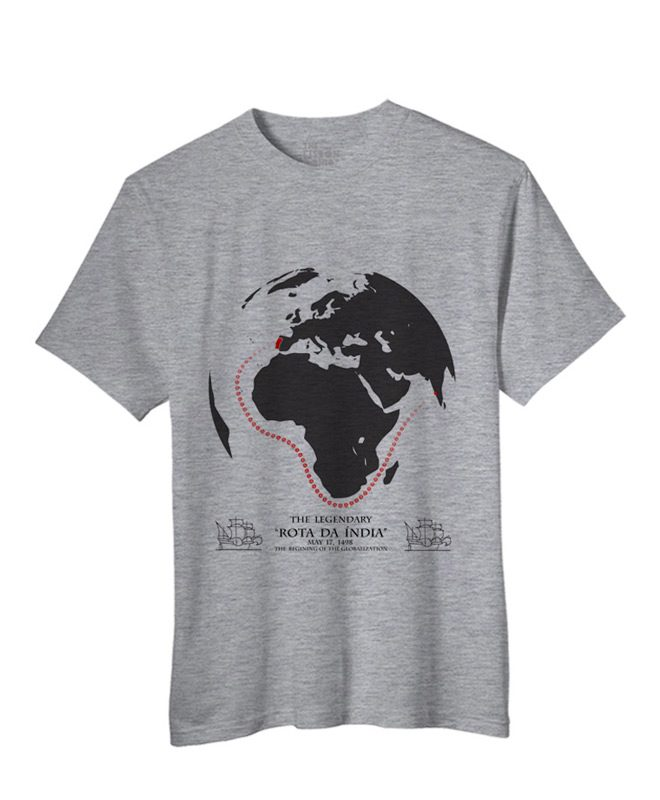 India Road T-shirt heather grey