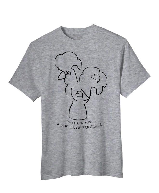 Legendary Portuguese Rooster T-shirt Heather grey creativelisbon