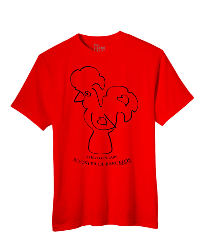 Legendary Portuguese Rooster T-shirt Red creativelisbon