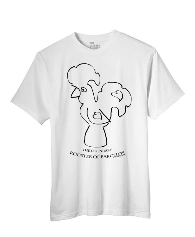 Legendary Portuguese Rooster T-shirt white creativelisbon