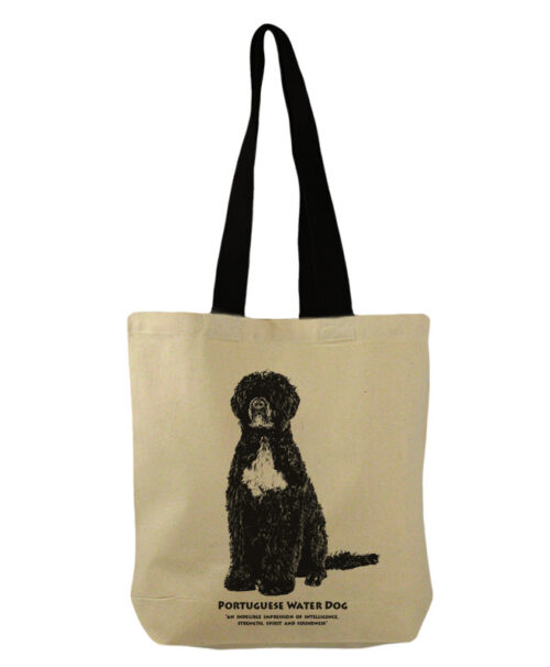 Portuguese water dog bucket bag