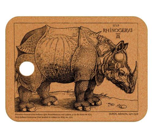 Rhinocerus Cork Trivet