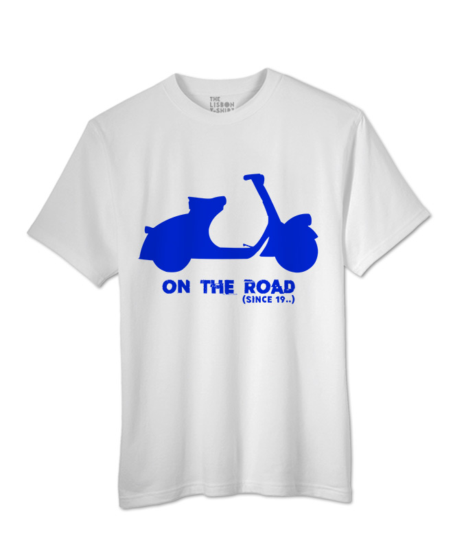 blue Scooter White T-shirt creativelisbon