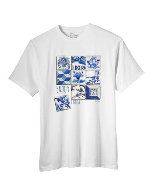 Enjoy The Blue T-shirt white creativelisbon