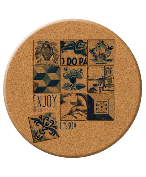 Enjoy The Blue cork Trivet creativelisbon