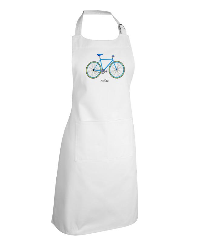 Blue Fixie White apron creativelisbon