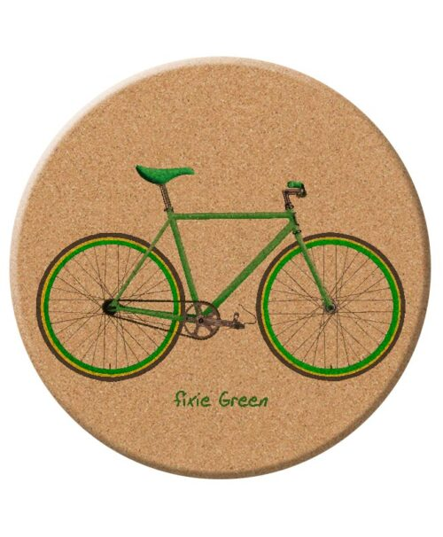 green Fixie cork trivet creativelisbon