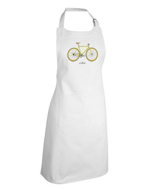 Yellow Fixie White apron creativelisbon