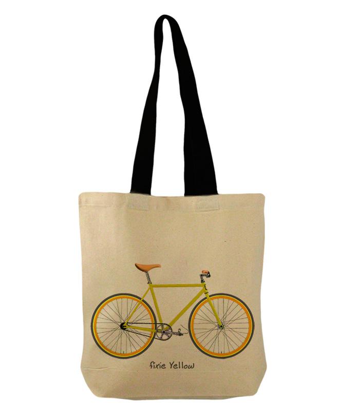yellow Fixie bucket bag creativelisbon