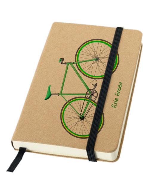 green Fixie bike notebook creativelisbon