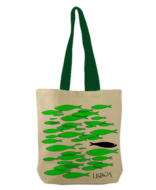 green sardines bucket bag with lisboa creative lisbon