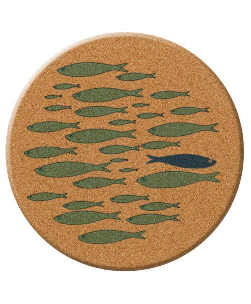 green sardines cork trivet creative lisbon