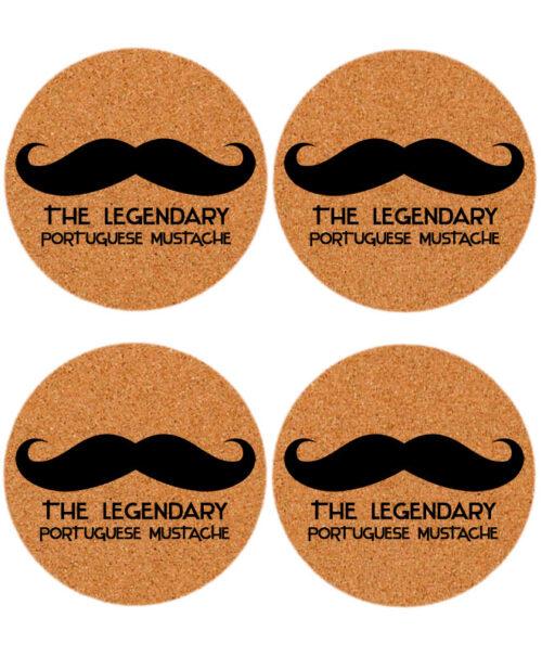 Legendary Portuguese mustache coasters