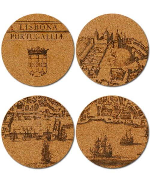 Lisbona cork coasters creativelisbon