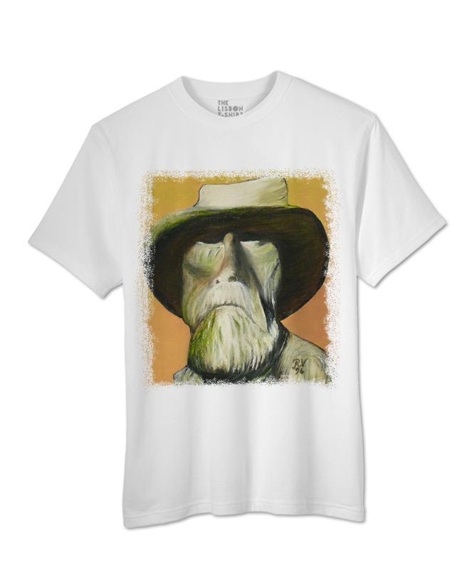 old man t-shirt white creativelisbon