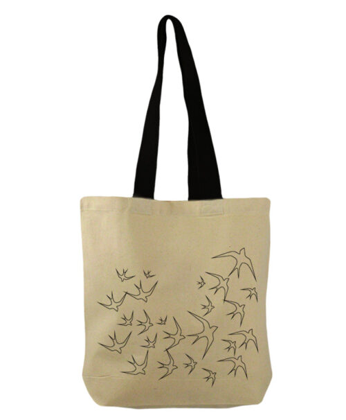 Transparent swallows bucket bag