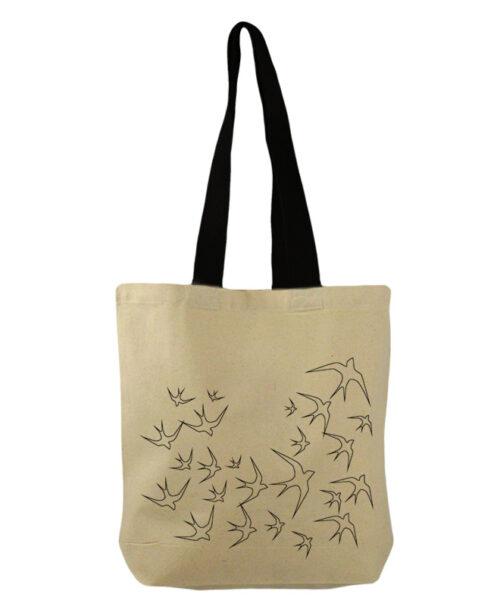 Transparent swallows bucket bag