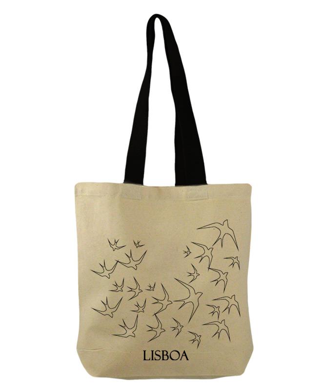 LisbonTransparent swallows bucket bag with Lisboa