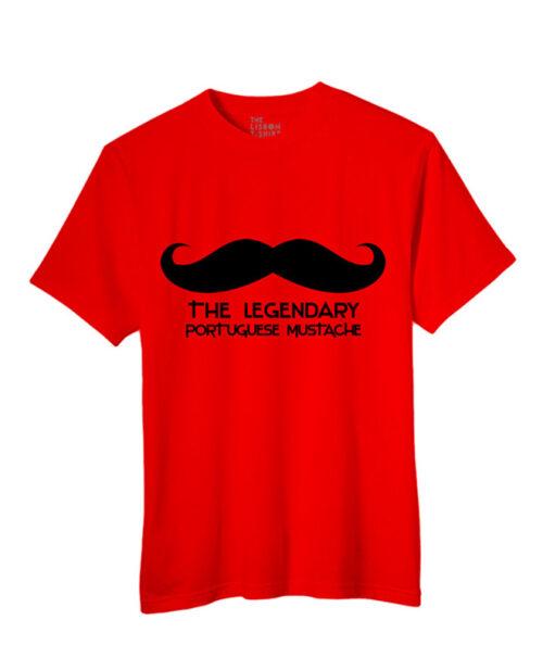 Legendary Portuguese Moustache t-shirt red creativelisbon