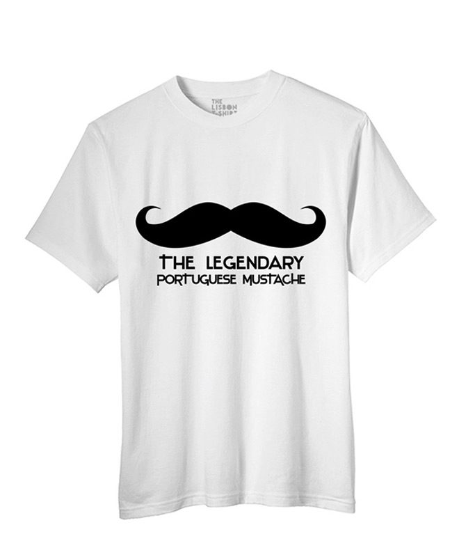 Legendary Portuguese Moustache t-shirt white creativelisbon