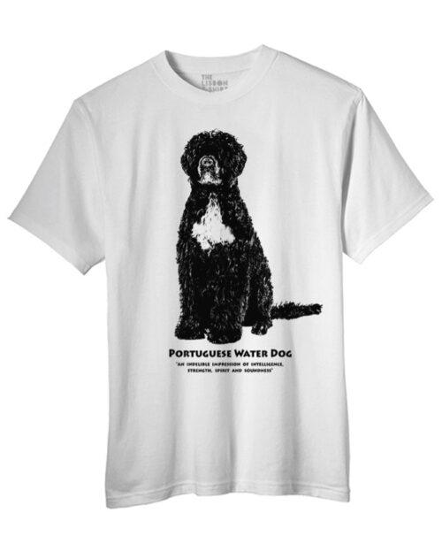 Portuguese water dog t-shirt white