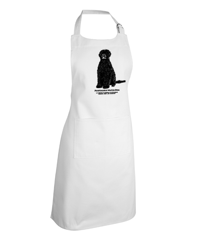 Portuguese water dog apron white