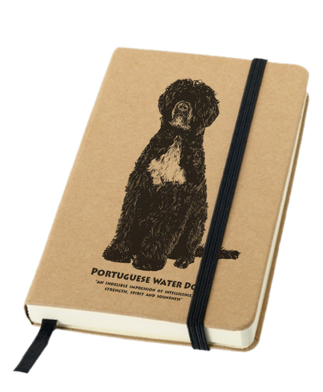 Portuguese water dog notebook