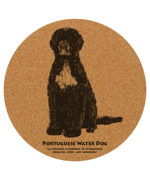 Portuguese water dog placemat