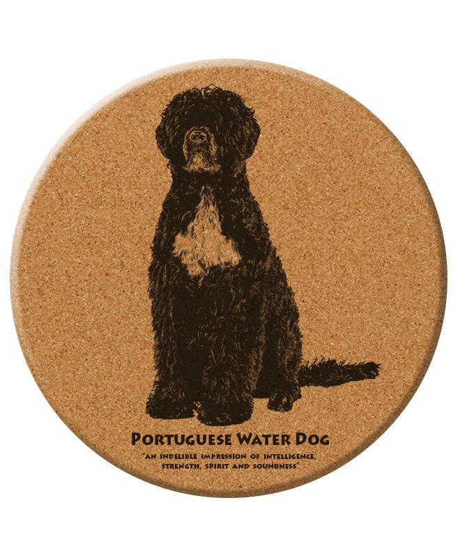 Portuguese water dog trivet