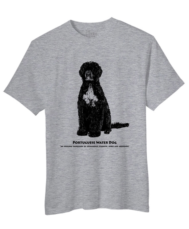 Portuguese water dog t-shirt heather grey