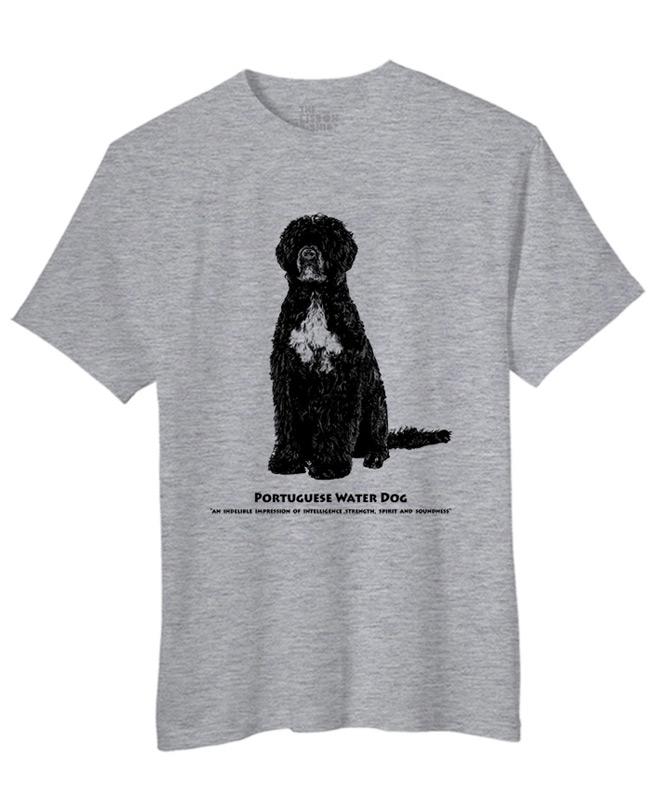 Portuguese water dog t-shirt heather grey