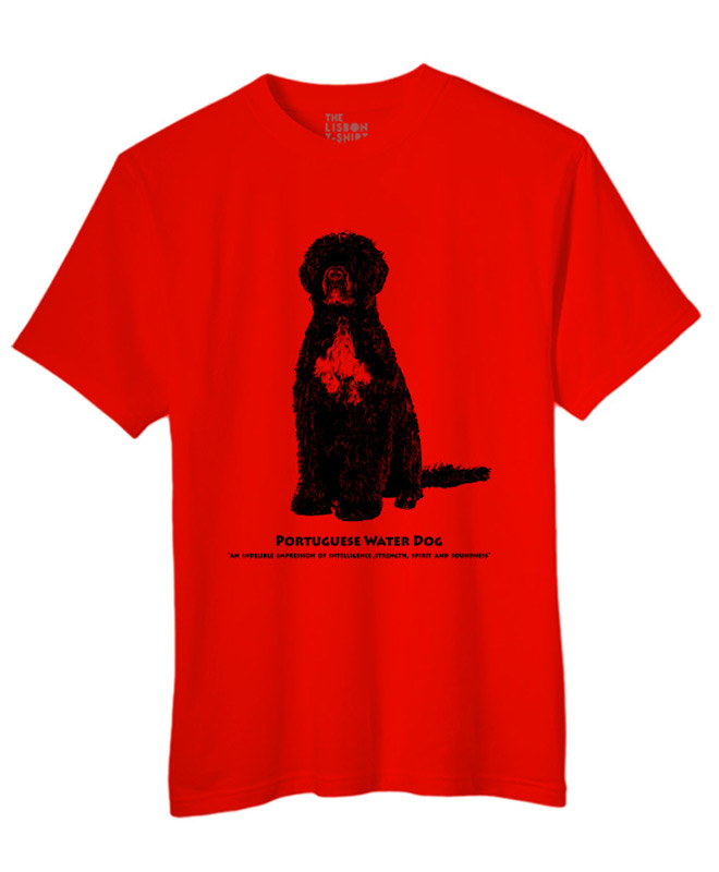 Portuguese water dog t-shirt red