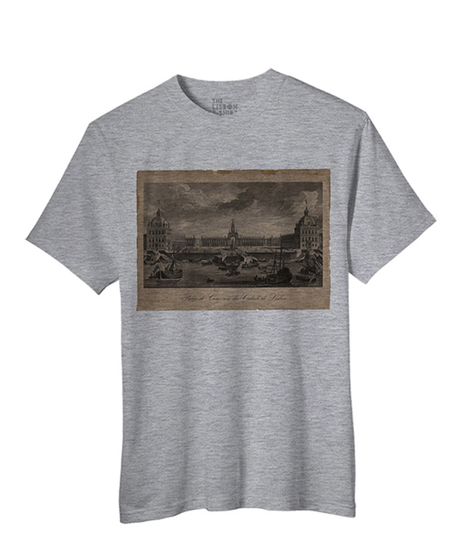 Praça do Comércio t-shirt heather grey creativelisbon